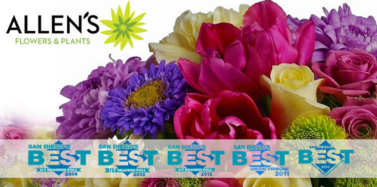 Luxury Flowers, Tulips, Roses, Orchids. Allen's Flowers & Plants - San Diego's BEST Florist!
