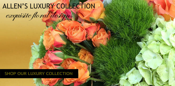 Allen's Flowers offers an exquisite luxury floral collection. These are custom and premium flower arrangements. We offer local same day and express flower delivery.